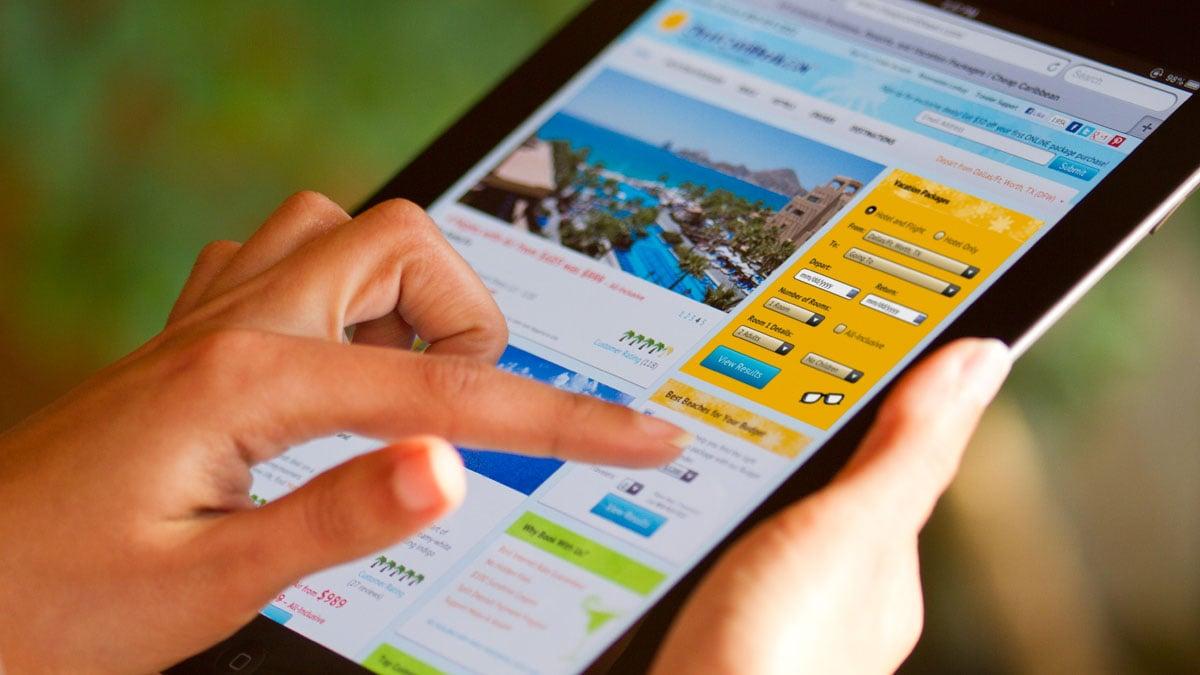 Cheap Caribbean Travel Case Study Website iPad