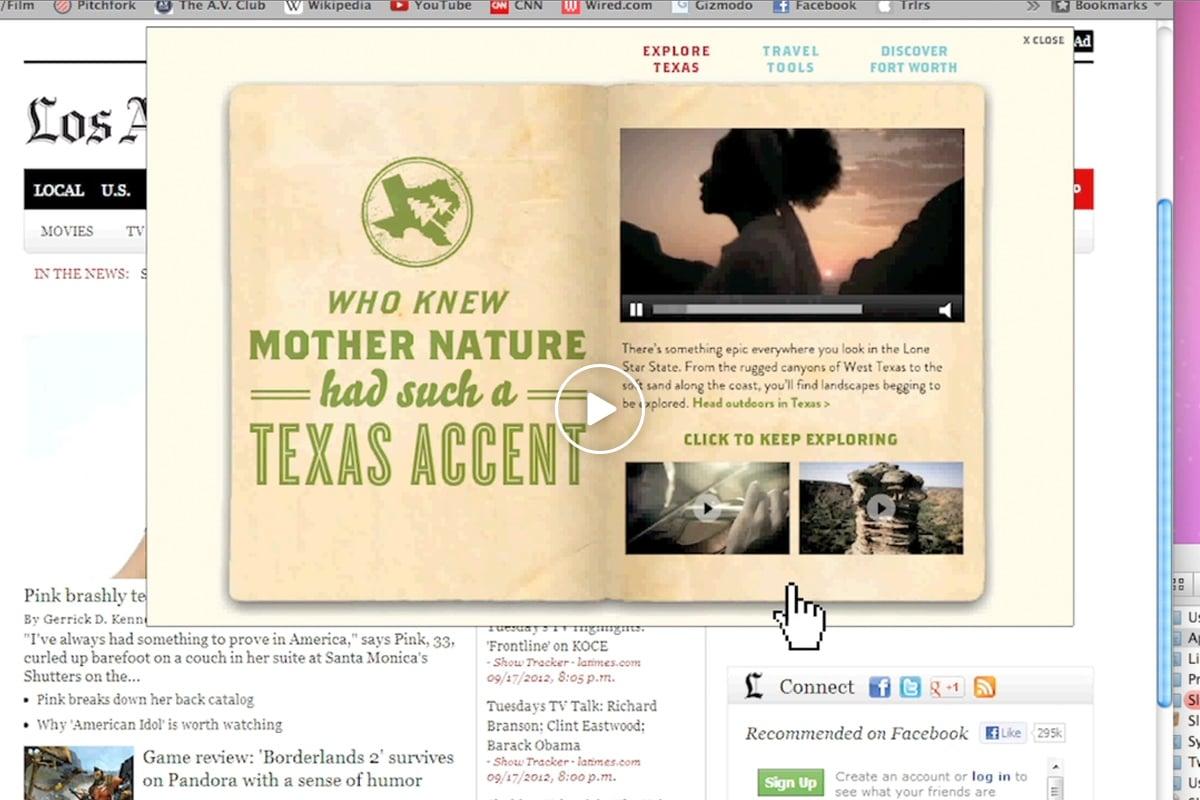 Texas Tourism Travel Marketing Case Study Digital Video