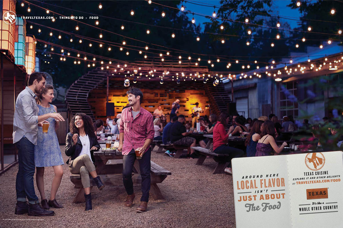 Texas Tourism Travel Marketing Case Study Texas Food Scene Print Ad