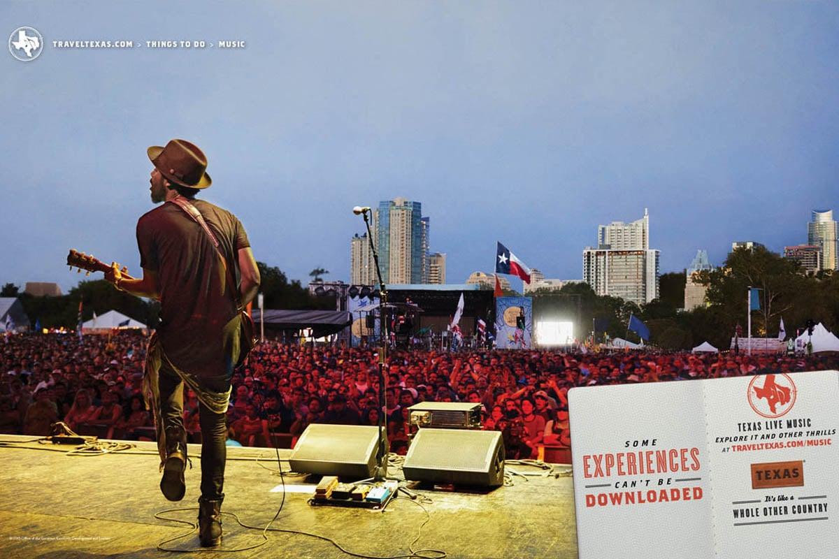 Texas Tourism Travel Marketing Case Study Texas Music Scene Print Ad
