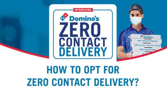 Dominos zero contact delivery