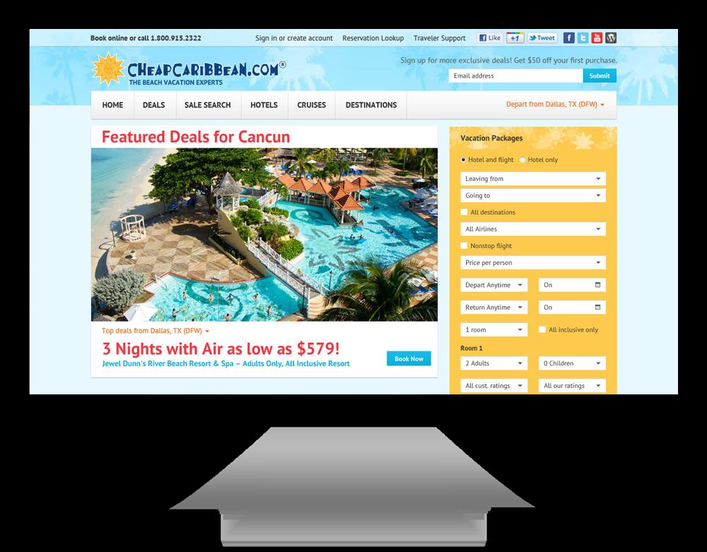 Cheap Caribbean Travel Case Study Website Design