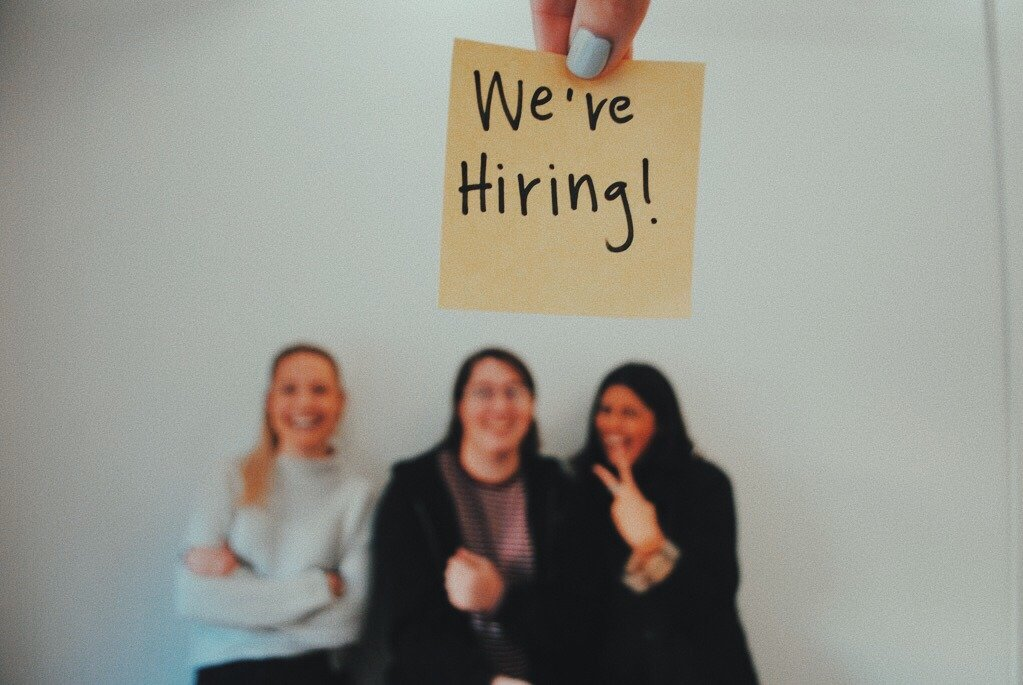 Were Hiring Sticky Note